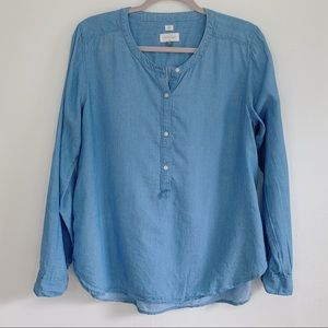Loft Long-sleeve Chambray Blouse